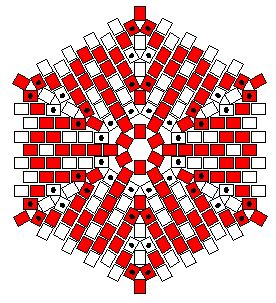 Hexagonal Flat Peyote Worked In Rounds - Beadwork