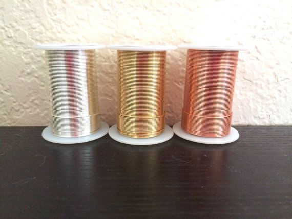 AAA Quality Tarnish Resistant Wire 20 Gauge Wire on a Spool of 45 feet (15 Yards) Your choice of color - gold, silver, or copper. Flat rate shipping on all purchases. Stock up and save