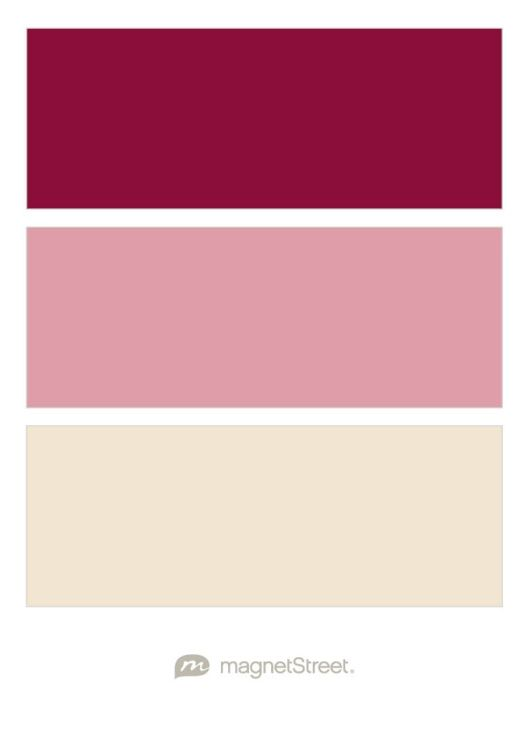 Burgundy, Blush, and Champagne Wedding Color Palette - custom color palette created at MagnetStreet.com