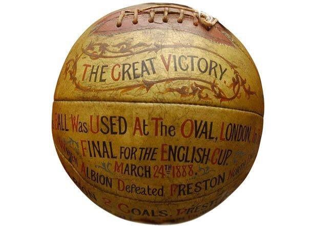 The football used in the 1888 #FACupFinal that saw #WestBrom beat #Preston (2-1). #WBA #PNEFC