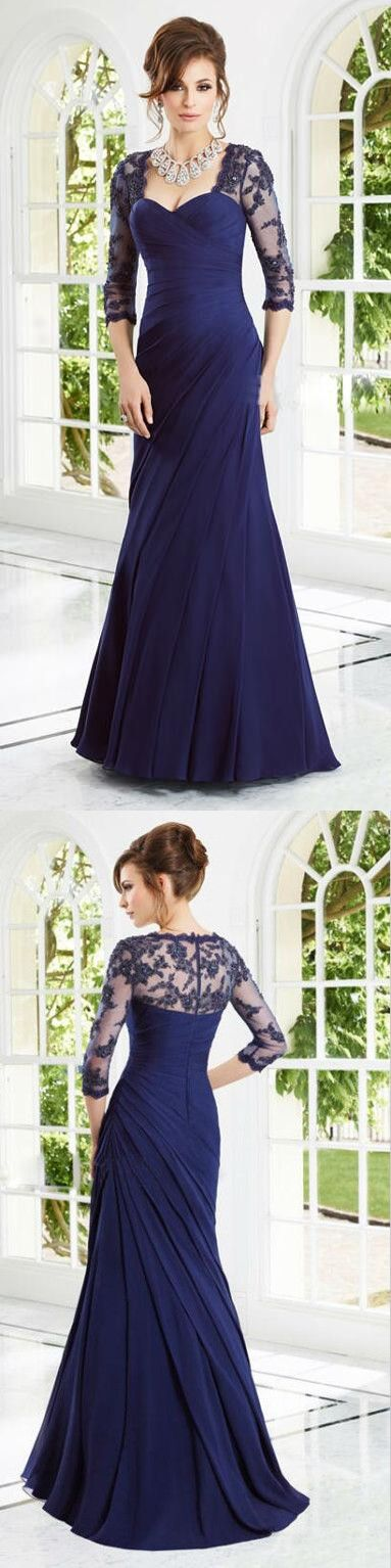 sexy mother dress,lace mother dress,sheath long wedding party dresses,mother of the bride dress,navy blue mother dress 2017