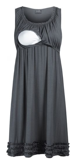 Ruffle Hemmed Maternity & Nursing Lounge Dress