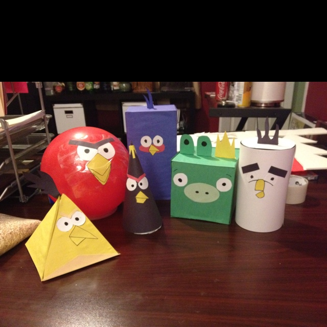 Angry Birds are now 3-dimensional shapes! Great way to motivate my first graders!