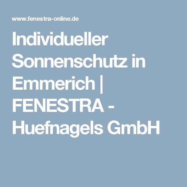 Individueller Sonnenschutz in Emmerich   FENESTRA - Huefnagels GmbH