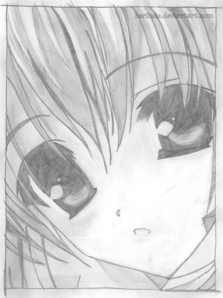 Pencil Anime Drawing On Pinterest How To Draw Manga