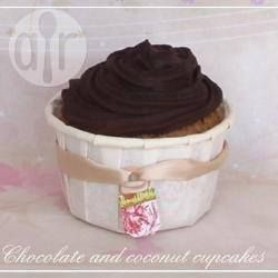 Foto recept: Kokos cupcakes met chocolade glazuur