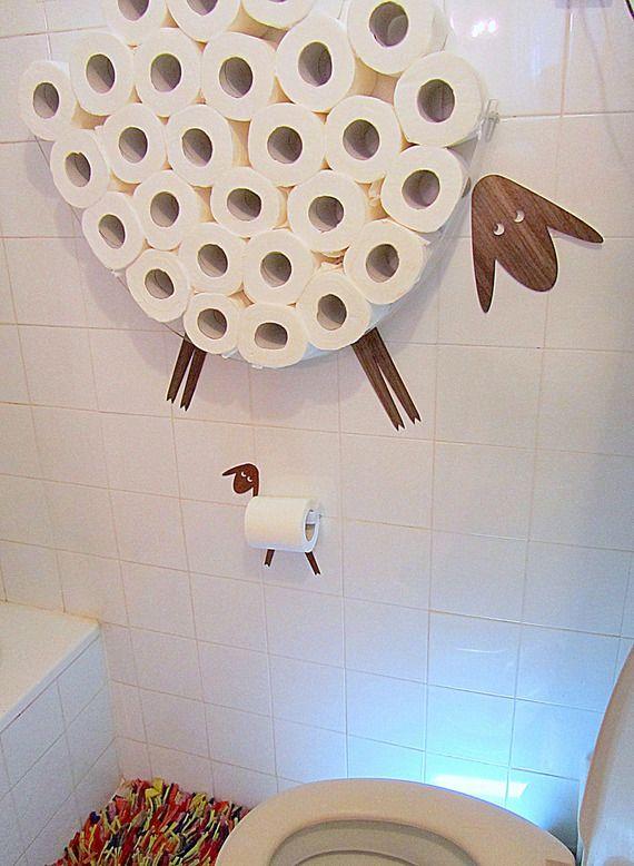 Sheep. Garde des rouleaux de papier toilette (32)