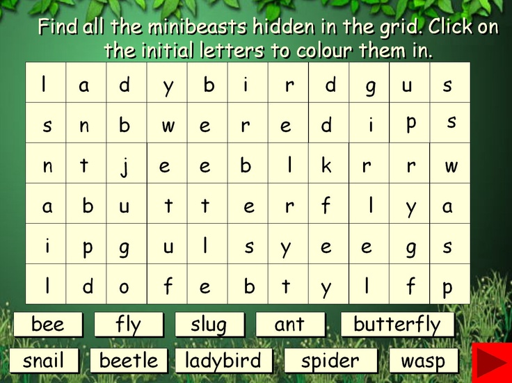 Minibeast Interactive Wordsearch: Wordsearch activity on Powerpoint that includes the use of triggers. Full instructions included.