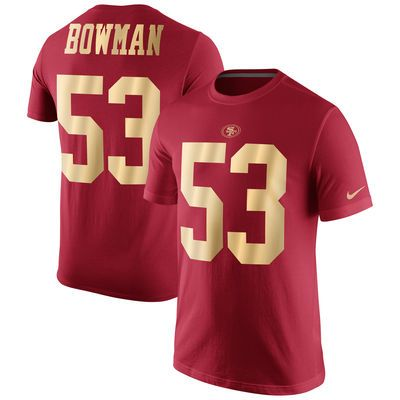 Men's San Francisco 49ers NaVorro Bowman Nike Scarlet Gold Collection Name & Number T-Shirt