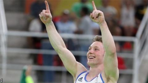 Rio Olympics 2016: Nile Wilson wins Great Britain's first high bar medal - BBC Sport