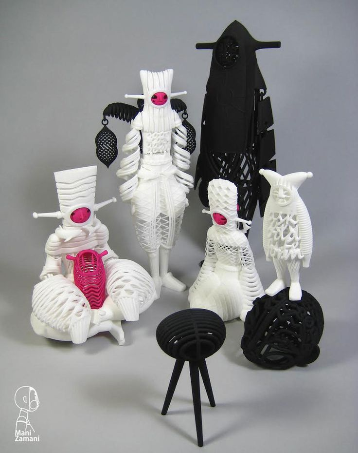 "SpankyStokes.com | Vinyl Toys, Art, Culture, & Everything Inbetween: Mani Zamani's absolutely spectacular ""Extra Terestri Aristocrats"" 3D Printed Designer Toy!"