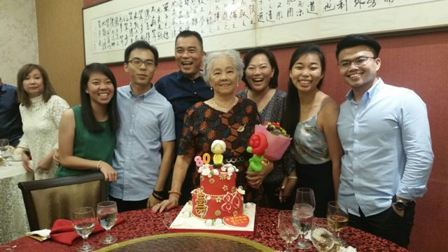The Sensational Cakes: Ah Ma birthday cake , the best and most beautiful ...