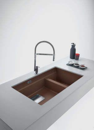 Effetto metal per i lavelli in fragranite di Franke | Ambiente ...