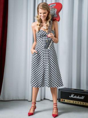 Платье-бюстье с юбкой А-силуэта