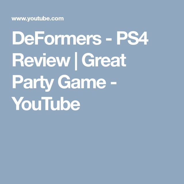 DeFormers - PS4 Review | Great Party Game - YouTube