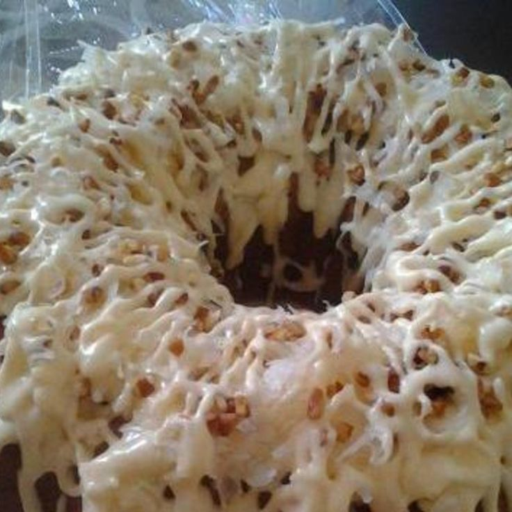 One of my favorites, Italian Creme bundt cake made from strach!! Check out more speciality cakes bundts at www.shugbundtcakes.com