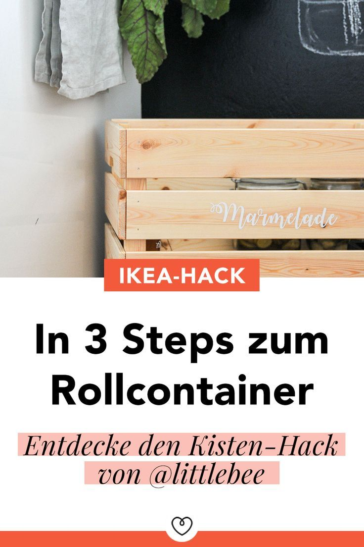 Rollcontainer Holz Ikea