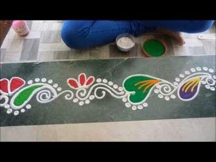 Indian Rangoli Diwali Rangoli Easy Rangoli Rangoli Borders Kolam Designs Rangoli Border Designs Auction Projects Art Projects Diwali Decorations & 56 best Door gadapa designs images on Pinterest | Diwali decorations ...