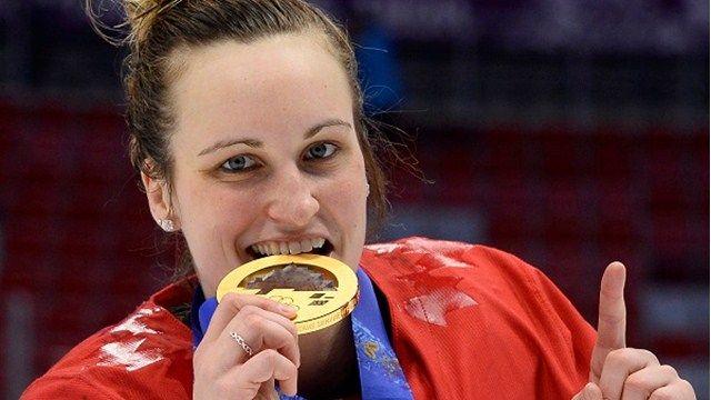 JO Sotchi - 20 février 2014 - Marie-Philip Poulin: 2 buts dont le but vainqueur - en prolongation - dans la victoire du Canada sur les États-Unis en finale du tournoi de hockey féminin!