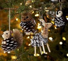 Figuras navideñas con piñas de pino (1)