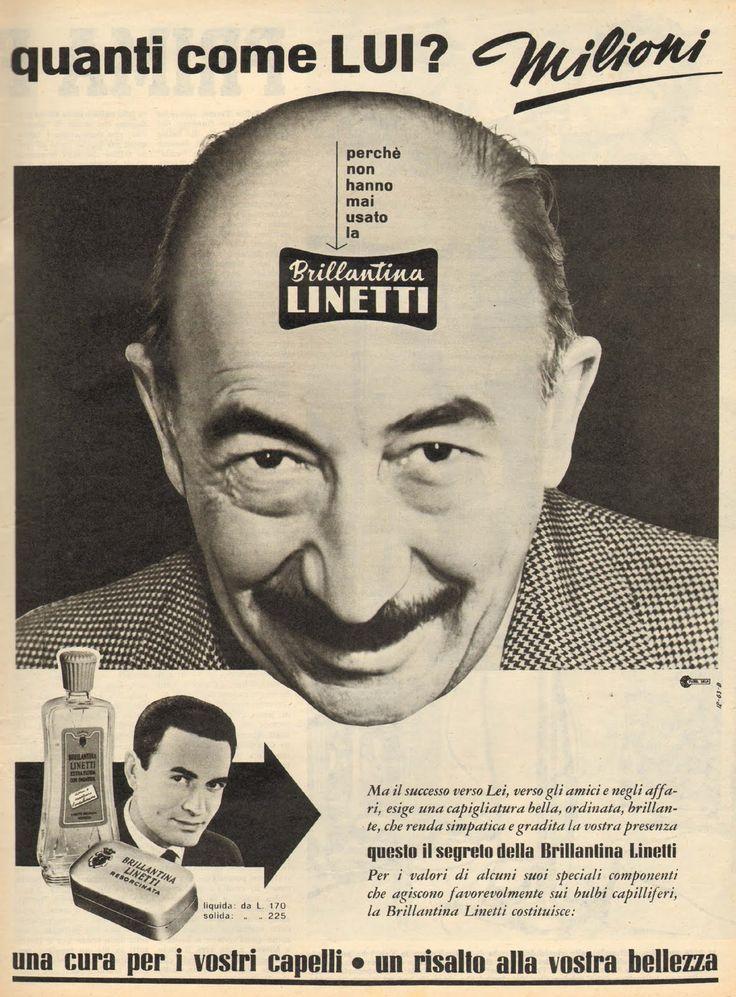 Brillantina Linetti-Italian vintage AD