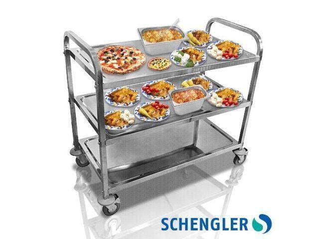 Chariot de desserte inox roulant cuisine REF 10216 1