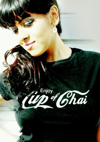 Cup of Chai t.shirt by Brown Man Clothing Co. The best in funky desi t.shirts - www.brownmanclothing.com