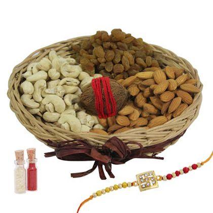 Rakhi Dry fruit Pack International - Rakhi To Dubai