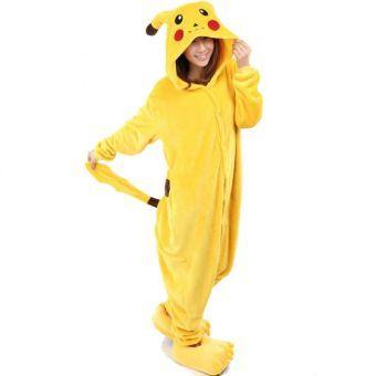 Unisex Cálido Pijamas para Adultos Cosplay Animales de Vestuario Ropa de dormir - Amarillo Pikachu