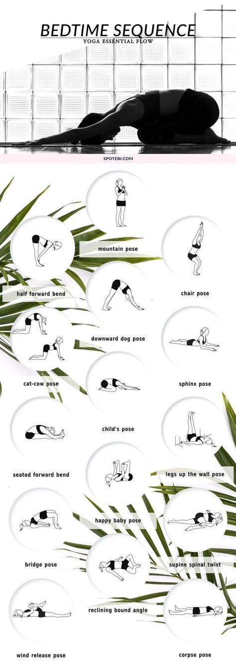 Beat insomnia and boost relaxation with our bedtime essential flow. A 12 minute yoga sequence perfect to soothe your mind and body before bed. Put on your coziest PJs, grab a cup of chamomile tea and unwind! www.spotebi.com/...: