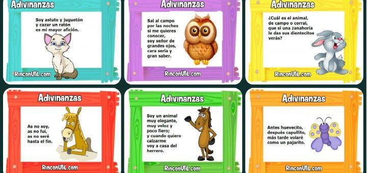 Adivinanzas animales para niños Portada