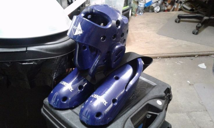 sparring gear century blue youth kids size7 head foot padding new #CENTURY