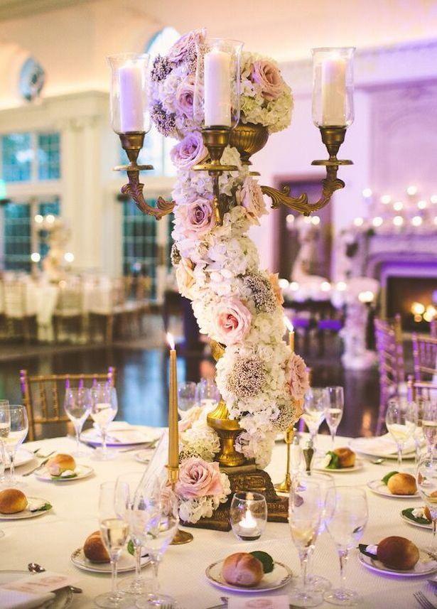 Tall Wedding centerpiece - Julian Ribinik Photography #luxurywedding #centerpiece #weddingcenterpiece #wedding #weddingdecor #weddingideas #weddingflowers #weddinginspiration