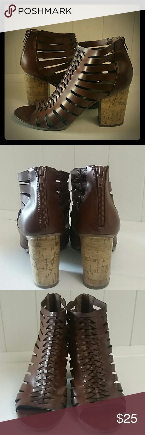 Strappy Gladiator Sandals heels booties indigo rd. Gladiator heels / sandals.  Size 9m indigo rd Shoes Sandals