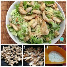 Ensalada César con pollo #RecetasGratis #RecetasFáciles #RecetasRápidas #Ensalada #Pollo #EnsaladaCésar