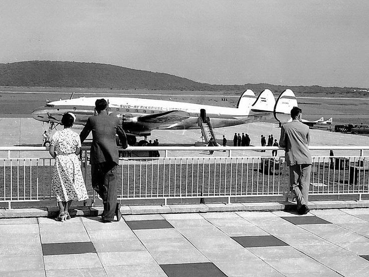 South African Airways Lockheed Constellation L-749 at Louis Botha airport, Durban.