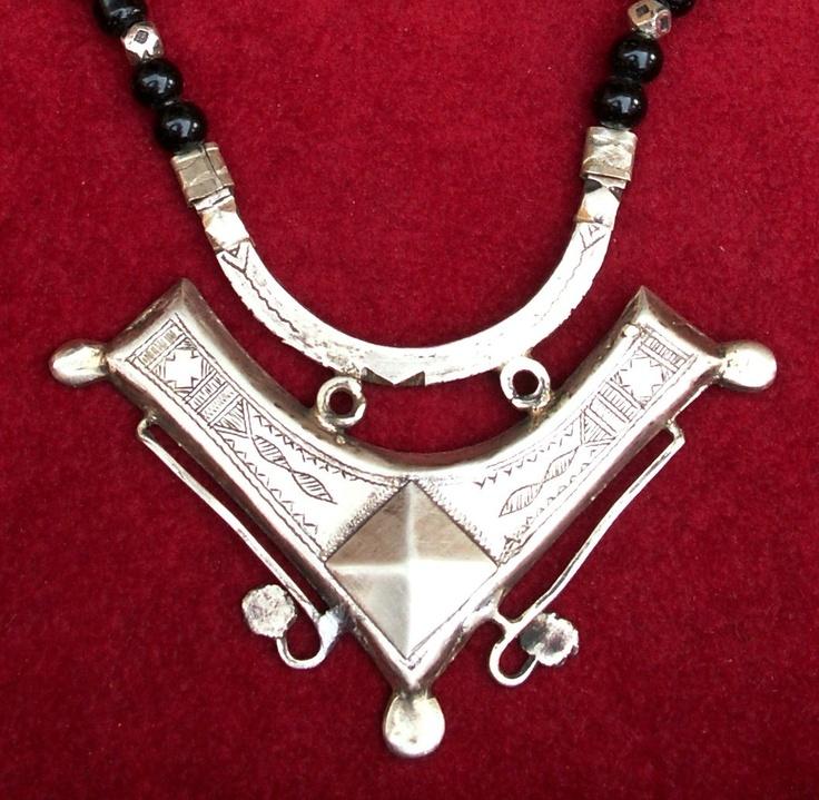 68 best tuareg necklaces images on pinterest ancient jewelry tuareg necklace with onyx beads mozeypictures Images