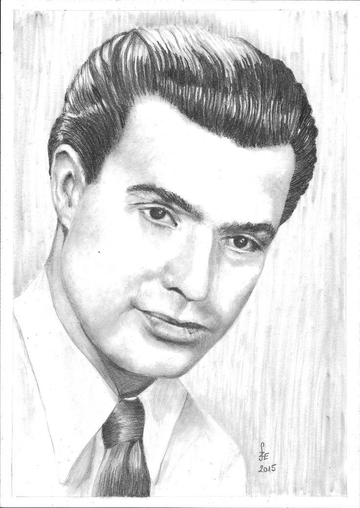 Pencil drawing portrait Sárdy János by Erika Székesvári  https://www.facebook.com/ercziart/