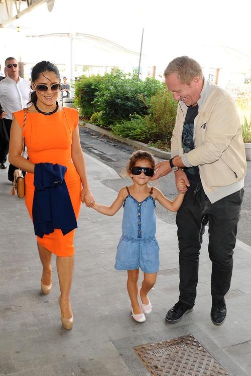 Salma Hayek with husband and daughter Valentina