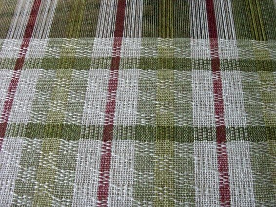 FlaxandFleece weaving blog: linen curtains Ms and Os: