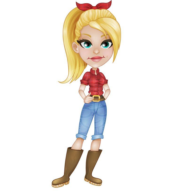 Cartoon Characters Vector : Farmer cartoon characters pixshark images