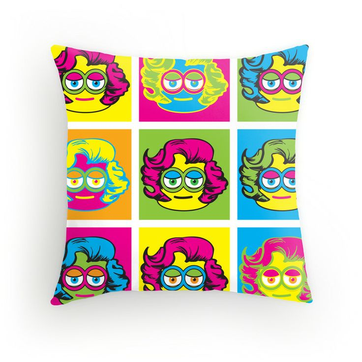 Warhol Marilyn Minion throw pillow