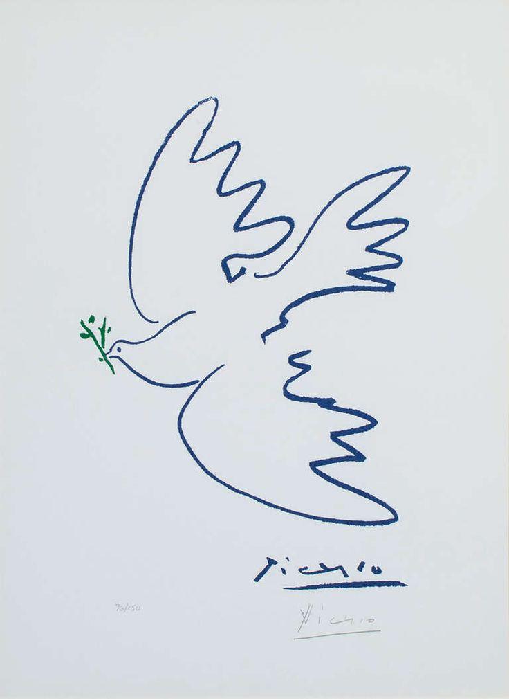 Pablo Picasso Colombe de la paix (Dove of Peace), c. 1955-1960, c. 1955 ۩۞۩۞۩۞۩۞۩۞۩۞۩۞۩۞۩ Gaby Féerie créateur de bijoux à thèmes en modèle unique ; sa.boutique.➜ http://www.alittlemarket.com/boutique/gaby_feerie-132444.html ۩۞۩۞۩۞۩۞۩۞۩۞۩۞۩۞۩