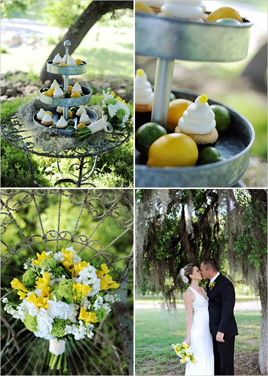 green & yellow wedding