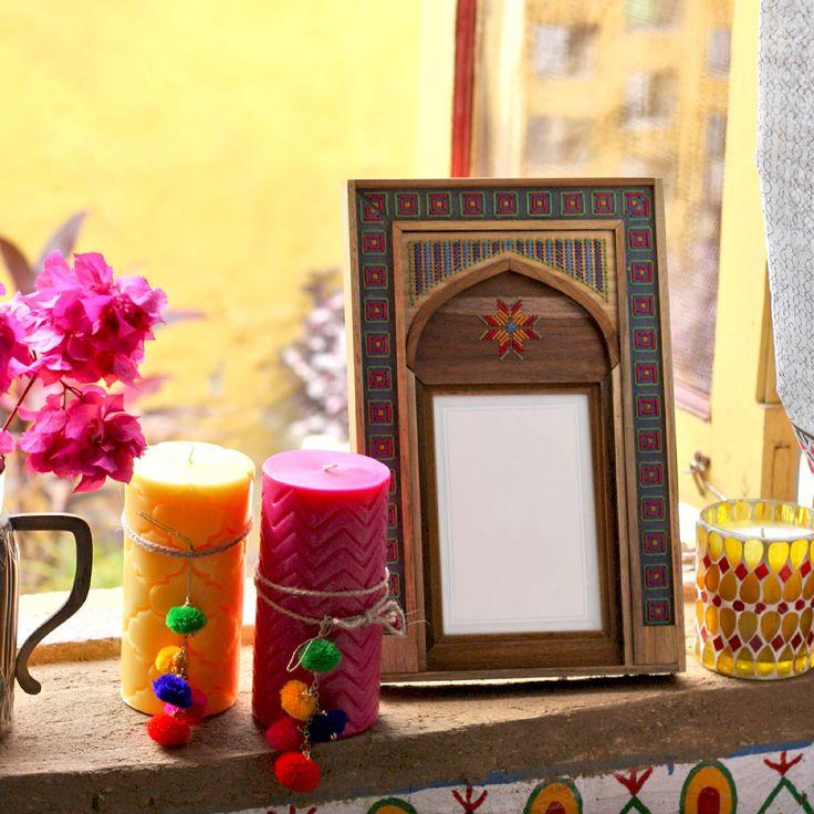 #candles #pom-pom #photoframe #threadwork #votive #accessories #home #summer #lifestyle #decor #Fabindia