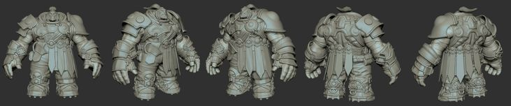 Darksiders II Warrior Zbrush Model by GrayGinther