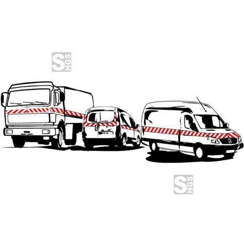 Eine Kfz-Markierung nach der DIN 30710 kann Leben retten  #Fahrzeugmarkierung #Verkehrssicherheit #Warnmarkierungen