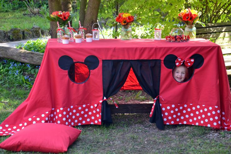 Mickey Mouse birthday, Mickey mouse tablecloth, Table playhouse, Kids indoor playground, Disney party decoration, Kids playhouse by NukuKids on Etsy https://www.etsy.com/listing/295357307/mickey-mouse-birthday-mickey-mouse