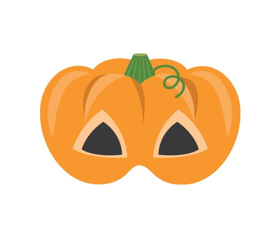 Download this Pumpkin Face Printable Mask and other free printables from MyScrapNook.com