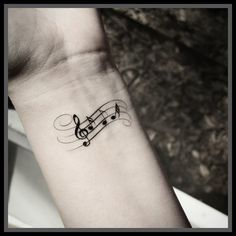 Music note tattoo Temporary tattoos music tattoos
